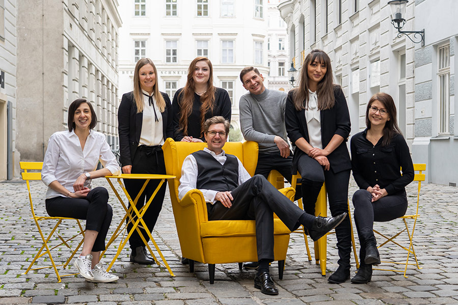 The convival Immobilien team in the centre of Vienna