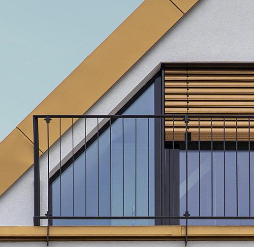 Balkon eines Projektentwicklungs - Objekt