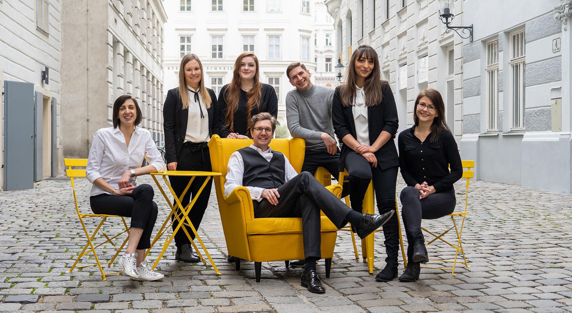 convival Immobilien Team Gruppenfoto in Wien